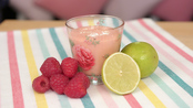 Mango, raspberry and lime smoothie