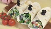 Greek salad wraps