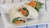 Roast turkey and veggie wraps