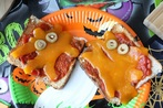 Healthy Halloween ghost toast