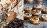 Apple and cinnamon porridge muffins