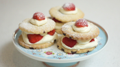 Strawberry shortbread stacks