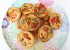 Mini vegetable quiches