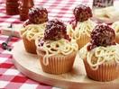Spaghetti and meatball muffins
