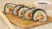 Fish finger sushi rolls