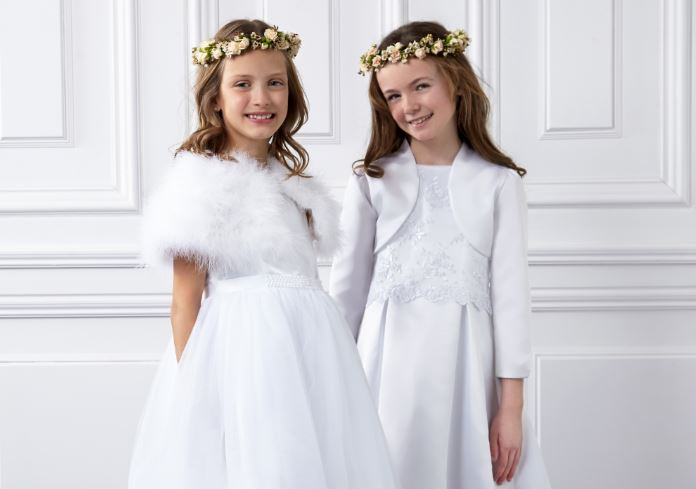 From €70: Butterfly bows and cap sleeves... these communion...