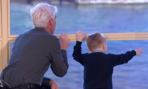 This Morning interview with little hero gets interrupted by passing boats