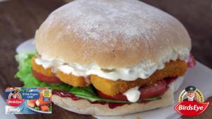 Traditional fish finger sandwich