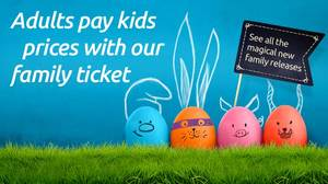 Win a family pass to the cinema this Easter