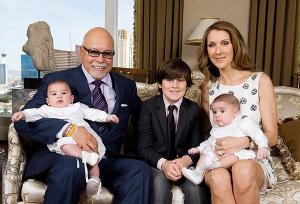Celine Dion sleeps in a huge bed with her twins since husbands death