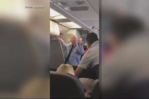 He almost hit the baby in the head: American Airlines flight attendant suspended