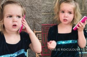 'I'm DONE with you!' Toddler shuts down her 'boyfriend' for seeing another girl