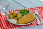 Cod Fillets with rosemary & sea salt mini roasted potatoes and easy homemade tartare sauce
