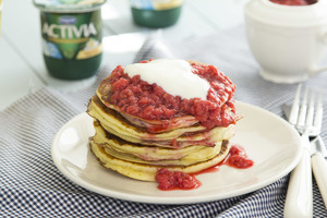 Guilt Free Yogurt Pancakes