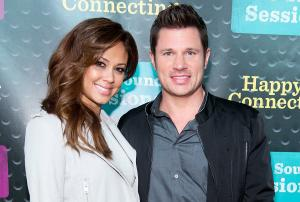 'This is true love': Nick Lachey digs through dirty NAPPIES to find wife Vanessa's lost ring