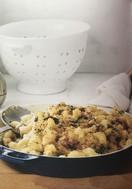 Spinach-mushroom mac'n'cheese