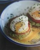 Guacamole eggs benedict