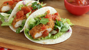 Southern fried chicken tacos