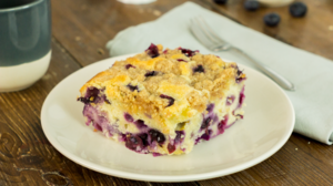 Blueberry and yoghurt cake