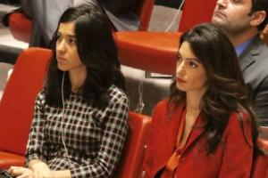 Back in business: Amal Clooney returns to work at the UN 3 months after giving birth