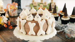 Bone and ghost layer cake