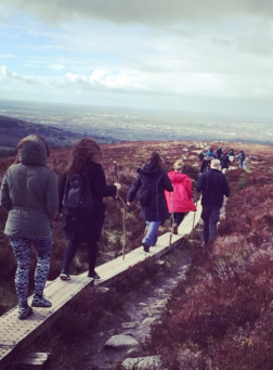 Mountain walk at Hazel House