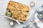 Spinach and ricotta crumble