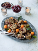 Sausage and cranberry stuffing with chestnuts