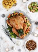 Free-range Irish turkey with clementine butter