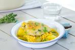 Chicken and barley casserole
