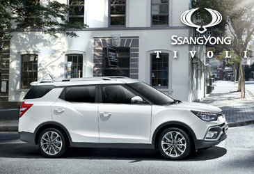 Win a weekend away and drive the SsangYong Tivoli XLV